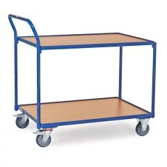 Fetra Tischwagen mit Holzwerkstoffplatten 2 Etagen 1135x700x1040mm Außenmaße