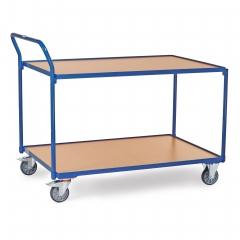 Fetra Tischwagen mit Holzwerkstoffplatten 2 Etagen 1335x800x1040mm Außenmaße
