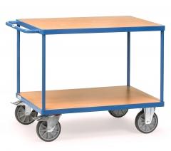 Fetra Tischwagen mit Holzwerkstoffplatten 2 Etagen