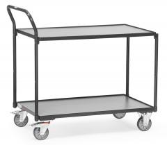 Fetra Tischwagen mit 2 Etagen 850x500mm Ladefläche Grey Edition