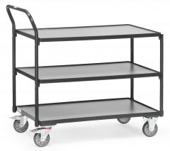 Fetra Tischwagen mit 3 Etagen 1000x600mm Ladefläche Grey Edition