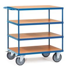 Fetra Tischwagen mit Holzwerkstoffplatten 4 Etagen