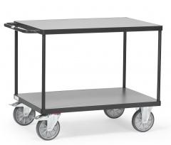 Fetra Tischwagen mit Holzwerkstoffplatten 2 Etagen Grey Edition