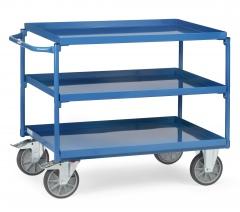 Fetra Tischwagen mit Stahlblechwannen 3 Etagen