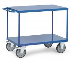 Fetra Tischwagen mit Stahlblechplatten 2 Etagen