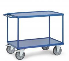 Fetra Tischwagen mit Stahlblech-Wannen 2 Etagen