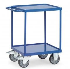 Fetra Tischwagen quadratisch Stahlblech-Wannen 2 Etagen 600x600mm Ladefläche