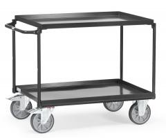 Fetra Tischwagen mit Stahlblechwannen 2 Etagen Grey Edition