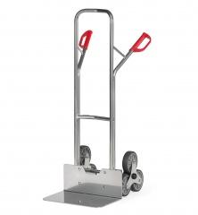Fetra Aluminium-Treppenkarre, mit dreiarmigen Radsternen, Schaufelbreite 480mm