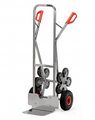 Fetra Aluminium-Treppenkarre, mit fünfarmigen Radsternen, Schaufelbreite 320mm