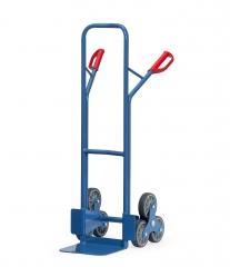 Fetra Stahlrohr-Treppenkarre, mit dreiarmigen Radsternen, Schaufelbreite 320mm