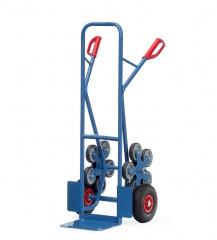 Fetra Stahlrohr-Treppenkarre, mit fünfarmigen Radsternen, Schaufelbreite 320mm