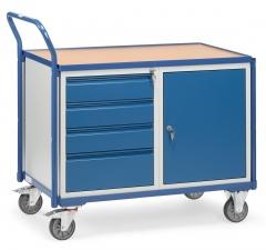 Fetra Werkstattwagen  mit Umrandung, Schrank und 4 Schubladen