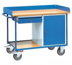 Fetra Werkstattwagen mit Umrandung, Schrank und Schublade