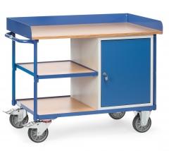 Fetra Werkstattwagen mit Umrandung, Schrank und 3 Ladeflächen