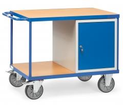 Fetra schwerer Werkstattwagen mit Schrank und 2 Ladeflächen