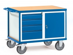 Fetra schwerer Werkstattwagen mit Schrank und 4 Schubladen