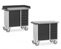 Fetra Werkstattwagen mit 6 Schubladen Stahl Grey Edition