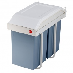 Hailo Einbau Mülltrennungs System Multi-Box duo L cremeweiß