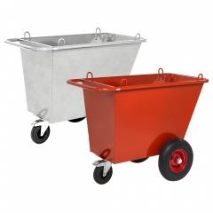 Kongamek Abfallwagen mit 3 Rädern Ø400mm Hebeösen und 400l Volumen