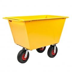 Kongamek Abfallwagen mit 3 Rädern Luftbereifung und bis 400l Volumen
