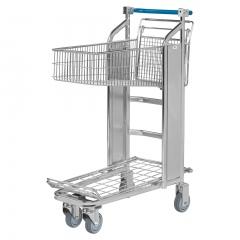Kongamek Einkaufswagen mit 2 Böden und automatischer Bremse Gummibereift Ø125mm
