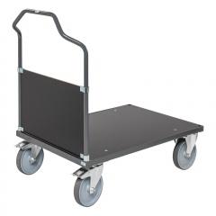 Kongamek ergonomischer Plattformwagen in dunkelgrau 1065mm hoch mit MDF-Platte Schiebebügel