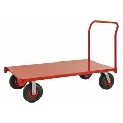 Kongamek extra grosser Plattformwagen in rot 1550x760x1050mm mit Schiebegriff Luftbereifung