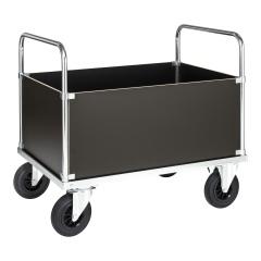 Kongamek Kastenwagen, verzinkt 900mm hoch mit Ladefläche und 4 Wändenaus MDF, wahlweise mit Bremse