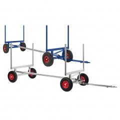 Kongamek Langgutwagen mit 4 Eckpfosten bis 6000mm Länge mit 2500-3500kg Tragkraft