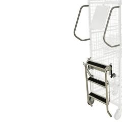 Kongamek Leiter, verzinkt 540x450x650mm als Zubehör für Kommissionierwagen Modul 600