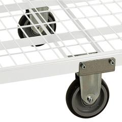 Kongamek Mittelrad in grau 200x620x200mm als Zubehör für Kommissionierwagen Modul 300