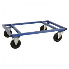 Kongamek Palettenwagen in blau 305mm hoch ohne Bremse für Paletten 1200x1000mm