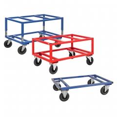 Kongamek Palettenwagen in blau oder rot 305-655mm hoch für Euro-Paletten 1200x800mm