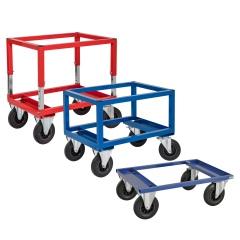 Kongamek Palettenwagen in blau oder rot 270-654mm hoch für Halbpaletten 800x600mm
