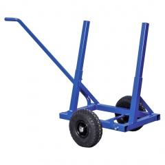 Kongamek Plattenwagen pulverbeschichtet in blau 1600x600x800mm mit Luftbereifung