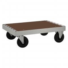 Kongamek Plattformwagen verzinkt 300mm hoch mit Ladefläche aus MDF wahlweise mit Bremse