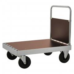 Kongamek Plattformwagen verzinkt 960mm hoch mit Schiebebügel und Ladefläche 1140x800mm aus MDF ohne Bremse