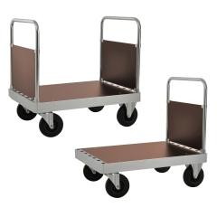 Kongamek Plattformwagen verzinkt 960mm hoch mit 1-2 Schiebebügeln und Ladefläche aus MDF wahlweise mit Bremse