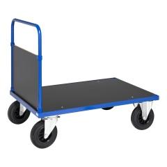 Kongamek Plattformwagen in blau 1000x700x900mm mit geschlossenem Schiebegriff und Gummibereifung ohne Bremse