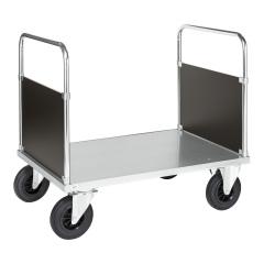 Kongamek Plattformwagen, verzinkt 900mm hoch mit 2 Seitenwänden und Ladefläche, wahlweise mit Bremse