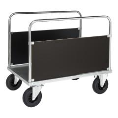Kongamek Plattformwagen, verzinkt 900mm hoch mit 2 stirnseitigen Wänden und Ladefläche, wahlweise mit Bremse