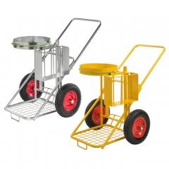 Kongamek Reinigungswagen mit Luft oder pannensicherer Bereifung Ø400mm
