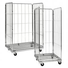 Kongamek Rollcontainer verzinkt mit 3 Gitterwänden, wahlweise mit Bremse