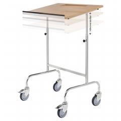 Kongamek Rollpult mit Schreibplatte 570x800x1300 höhenverstellbar 150kg Tragkraft Rahmen verzinkt mit Bremse