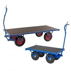 Kongamek Schwerlastwagen mit Feststellbremse und Ziehgriff 1500kg Tragkraft