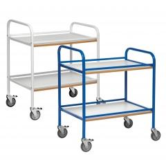 Kongamek Tablettwagen 765x520x895mm pulverbeschichtet mit Bremse in verschiedenen Farben