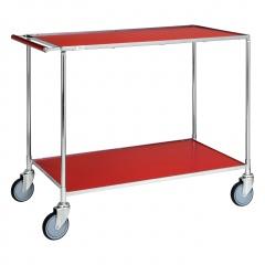 Kongamek Tischwagen in rot, verzinkt mit Komfort- Griff 1000x580x850mm