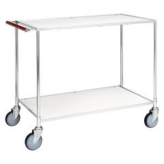 Kongamek Tischwagen in weiss, verzinkt mit Komfort- Griff 1000x580x850mm