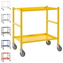 Kongamek Tischwagen mit pulverbeschichtetem Rahmen 625x414mm Ladefläche, wahlweise mit Bremse